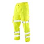 EN471 Class 1 Polycotton Cargo Trousers Yellow Image