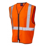 EN471 Class 2 Railway GO/RT Zip-Front Waistcoat Orange Image