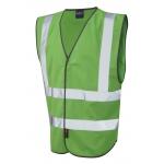 Coloured Reflective Waistcoat - Green (Non EN471) Image