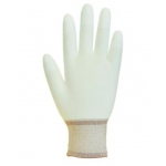 White Pure Dex Nylon Glove PU fingertips (Pack of 10) Image
