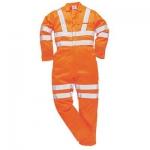 Hi Vis Orange Polycotton Coverall Image