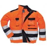 Portwest TX50 Orange/Navy High Vis Jacket Image