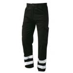Nusafe Multi-Functional Combat Trouser Black With Hi Vis Banding Image