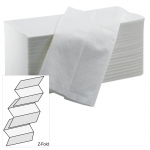 White Z Fold Hand Towels - Pack 5000 Image