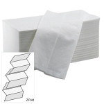 White Z Fold 2 Ply Hand Towels - Pack 3000 Image
