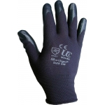 Nitrile Palm Coated Glove Black Image