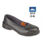 Ladies Black Court Shoe Image