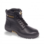 Bison waxy hide boot black  Image