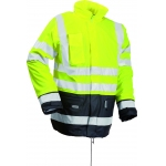 Microflex Yellow/Navy Hi Vis Winter Rain Jacket Image