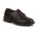 Black Leather Executive Plain Front Shoe S1P Image