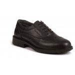 Black Leather Executive Brogue Shoe S1P Image