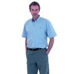 Mens Pinpoint Oxford Short Sleeved Shirt Image