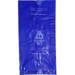 Blue Plastic Disposal Bags - Pack 100 Image